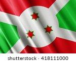 burundi waving flag close | Shutterstock . vector #418111000