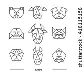 Origami Vector Animals Set....