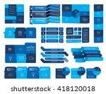 mega set of  infographics... | Shutterstock .eps vector #418120018