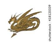 dragon vector  the game... | Shutterstock .eps vector #418120339