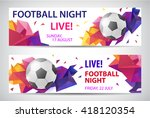 set of vector sport football... | Shutterstock .eps vector #418120354