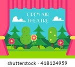 nature landscape and theatre... | Shutterstock .eps vector #418124959