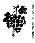 black grapes icon isolated on... | Shutterstock .eps vector #418128400