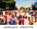 defocused background of a crowd ... | Shutterstock . vector #418131754