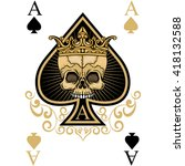 Playing Card  Ace Of Spades...