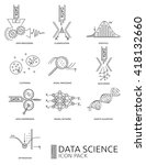 data science icon pack. thin... | Shutterstock .eps vector #418132660