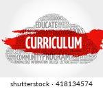 curriculum word cloud ... | Shutterstock . vector #418134574