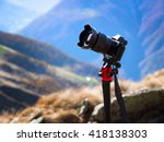 modern professional camera on a ... | Shutterstock . vector #418138303