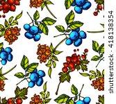 hand drawn seamless pattern...   Shutterstock .eps vector #418138354