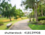 abstract blur city park bokeh... | Shutterstock . vector #418139908