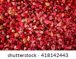 Stock photo closeup image of beautiful flowers wall background with amazing red and white roses 418142443