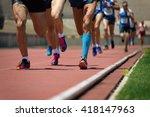 athletics people running on the ... | Shutterstock . vector #418147963