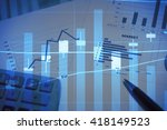 stock market information and... | Shutterstock . vector #418149523