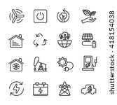 thin line ecology icon set 8 ... | Shutterstock .eps vector #418154038