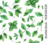 watercolor seamless pattern... | Shutterstock . vector #418160320