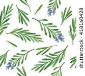 watercolor seamless pattern... | Shutterstock . vector #418160428
