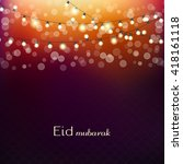 eid mubarak greetings... | Shutterstock .eps vector #418161118