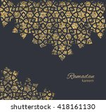 greeting card or invitation... | Shutterstock .eps vector #418161130