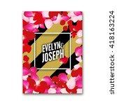 wedding invitation decoration... | Shutterstock .eps vector #418163224