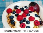 healthy breakfast in a bowl... | Shutterstock . vector #418164958