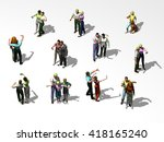 groups of people photographing... | Shutterstock . vector #418165240