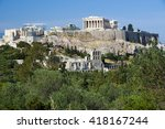Small photo of Acropolis seen from Filopapos Hill, Athens, Greece