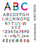 english alphabet. vector... | Shutterstock .eps vector #418178503