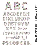 english alphabet. vector... | Shutterstock .eps vector #418178659