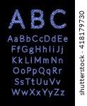 english alphabet. vector... | Shutterstock .eps vector #418179730