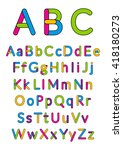 english alphabet. vector... | Shutterstock .eps vector #418180273