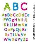 english alphabet. vector... | Shutterstock .eps vector #418180318
