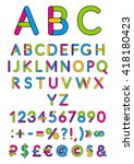 english alphabet. vector... | Shutterstock .eps vector #418180423