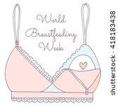hand drawn breastfeeding bra