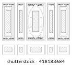 vector wall frames wainscoting... | Shutterstock .eps vector #418183684
