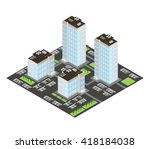 home and residents in urban... | Shutterstock .eps vector #418184038