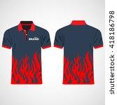 color men polo shirts. design... | Shutterstock .eps vector #418186798