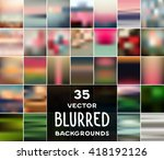 collection of 35 vector blurred ... | Shutterstock .eps vector #418192126