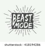 vintage motivation logo  emblem ...   Shutterstock .eps vector #418194286