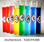 aligned chemical danger... | Shutterstock . vector #418194388