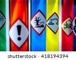 multicolored chemistry vials  ... | Shutterstock . vector #418194394