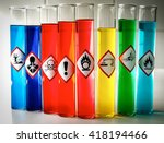 Small photo of Aligned Chemical Danger pictograms - Oxidizing