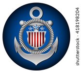 coast guard's day in the united ... | Shutterstock .eps vector #418198204