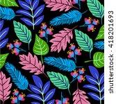 floral pattern | Shutterstock .eps vector #418201693