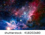 image of the carina nebula in... | Shutterstock . vector #418202680