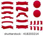 ribbon vector icon set red... | Shutterstock .eps vector #418203214