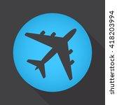 plane icon vector  solid logo...
