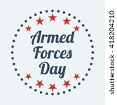 armed forces day. vector... | Shutterstock .eps vector #418204210