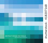 abstract mosaic rectangle blue... | Shutterstock .eps vector #418207168