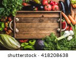 fresh raw vegetable ingredients ... | Shutterstock . vector #418208638