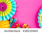 traditional colorful table... | Shutterstock . vector #418210363